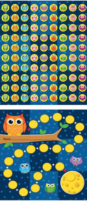 Miniature Incentive Charts like this Owl Chart can turn miniature goals into games.