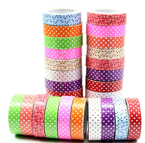 I have polka dot tape like this and my students like it. I've also found some thinner polka dot tape as you can see in my dispenser.