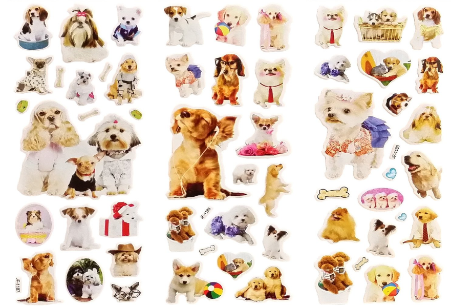 Here's another set of Puppy Puffy Stickers. My students love goofy things like this. Maybe it's because I have a dog?