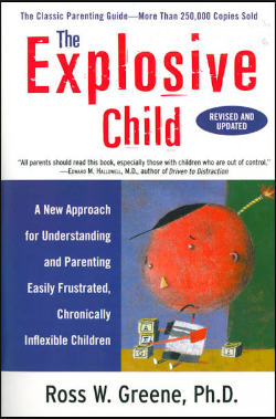 The Explosive Child literally saved my life when my children were young. I felt empowered with real strategies after reading it. If you have children or students who lose control and can't keep it together during lessons please read this book. I'd give you my copy but I've already given away dozens.