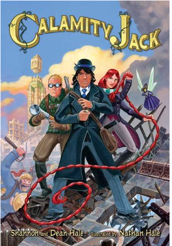 Kids in my studio are all excited to read Calamity Jack, one of series of fabulous books by Shannon and Dean Hale. Graphic novels are big with all ages.