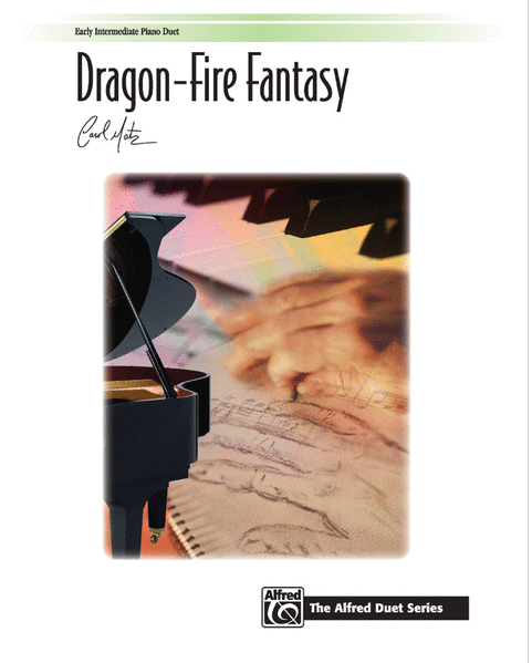 Dragon-Fire Fantasy by Carol Matz  has fired up my young students. It sounds much harder than it is and though it's not printed this way, it's actually a mixed-meter piece. (I've been known to use white-out and change the time signatures.) Either way, it's always a hit.