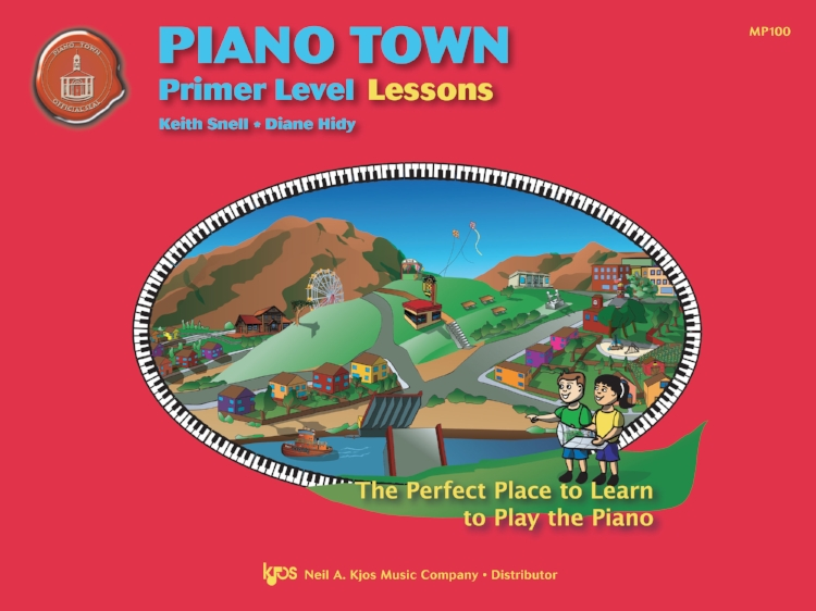 Ask a student what they see in this illustration? Can they find the Ferris Wheel? The kites? The drawbridge? These will all appear in their journey through Piano Town.