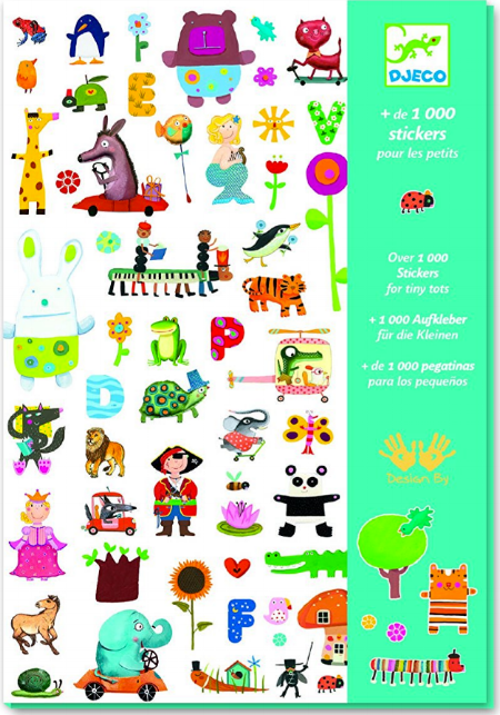 This Djeco set of 1,000 stickers includes something for every one of your students. From pirates to ladybugs to princesses and elephants driving cars, you'll have it covered. This high quality sets includes eighteen separate sheets for easy use.