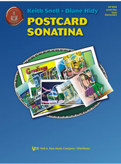 Postcard Sonatina - is a perfect first Sonatina for a student who likes Diane Hidy's Attention Grabber Books. A great introduction to the form of a Sonatina, with a just a few flourishes to make it a showy recital piece. Elementary.
