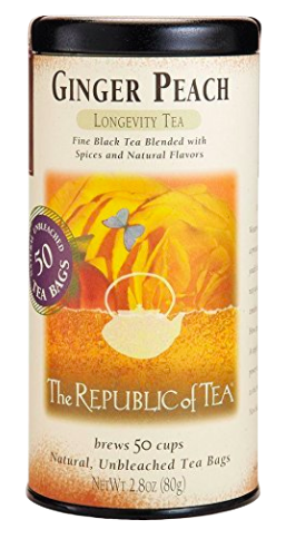 I drink tea often when I'm teaching and this is one of my favorites. Ginger Peach comes in both regular and decaffeinated, so I can drink it all day long.