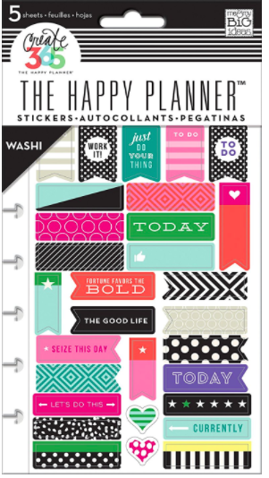 "Another way to get my students to pay attention might be these Washi Tape Stickers. I know that I'd pay more attention to a zippy sticker that says ""Work It!"""