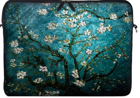 Now that my daughter has left for college, I am the proud owner of my very first laptop computer. Wouldn't this Van Gogh Almond Blossoming bag be just the thing to put it in when I'm traveling around the country and speaking to teachers?