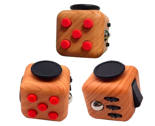 I'm perpetually on the lookout for new fidget devices. This Fidget Cube is described like this:  The perfect amusing gift for fidgets in your life, our analog array of features includes spinners, buttons, rollers, flickers, and switches to help you lower or stop anxiety. I like the idea that it provides multiple opportunities for different kinds of fidget stimulation which I know I would love, and my students would too!