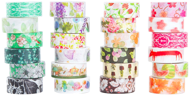 This set of 48 rolls of Washi Tape is an amazing value at less than 50 cents a roll. Great way to get started using this for teaching and for crafts in your home.