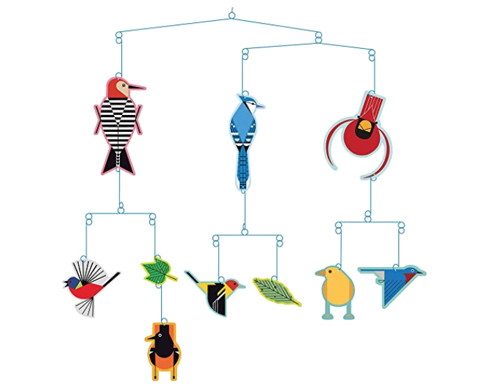 When I was a little girl, we had a mobile of small wooden ships that hung in our living room. This mobile of Birds by Charley Harper looks like it would be perky and fun. The movement of mobiles makes them energize a room and I'd forgotten how much I liked having one in my house when I was growing up. Maybe for my waiting area.