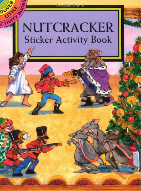Looking for inexpensive gifts for your students or young relatives? The Nutcracker Sticker Book might be what you're looking for. I've always enjoyed the little Dover books. Easy to store and keep track of and good for offering a few, but not too many choices to a student.
