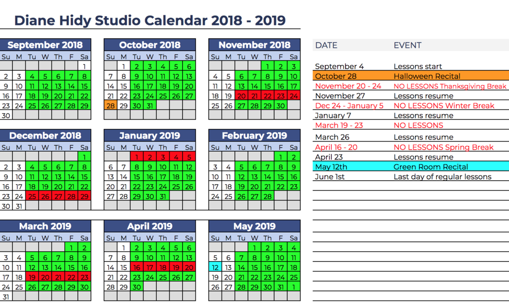 Diane Hidy Studio Calendar 2018-2019 Google version.png