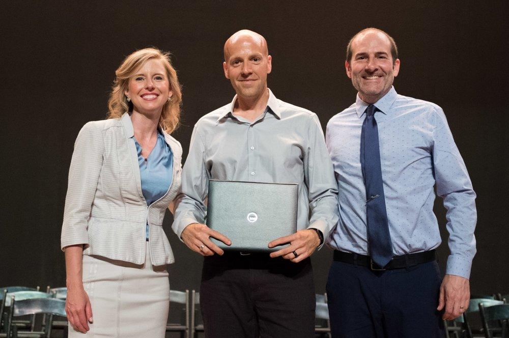 Jessica Barry, President, Jeremy Slagle, and Mathew Flick, Vice President of Education
