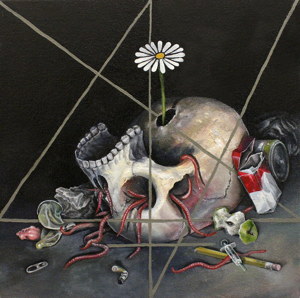 Still Life with Worms of the Skull