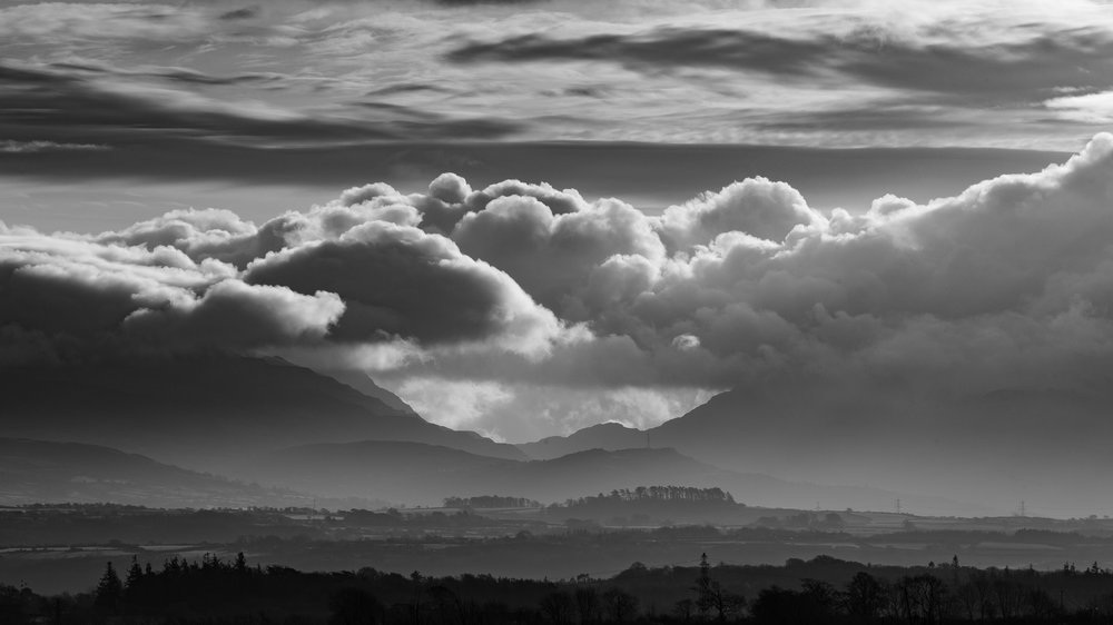 Looking across to Snowdonia from Anglesey