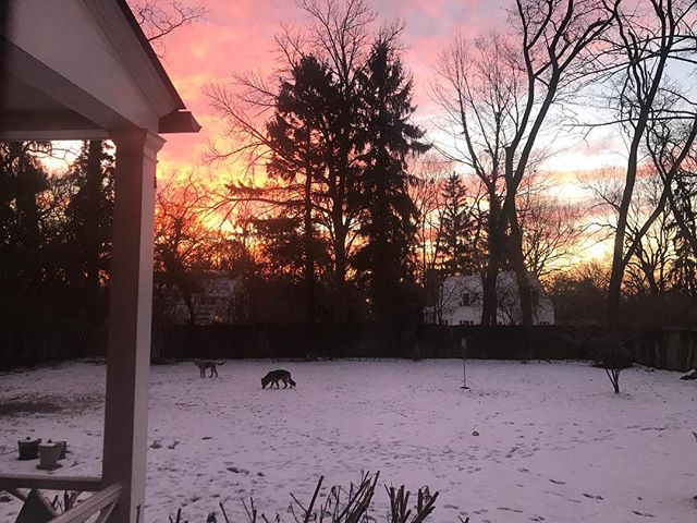 Winter sunrise sky. #beautiful