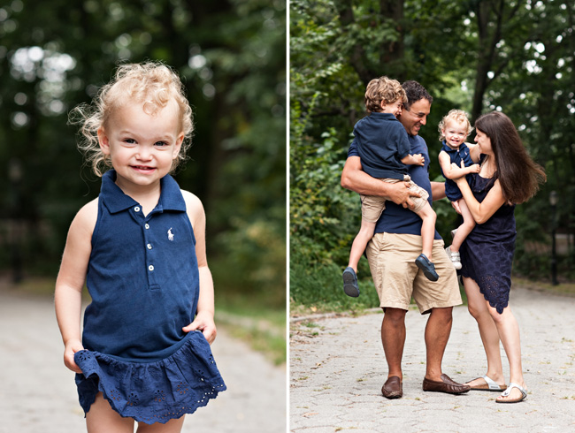 New yorkers love navy blue brooklyn family photographer