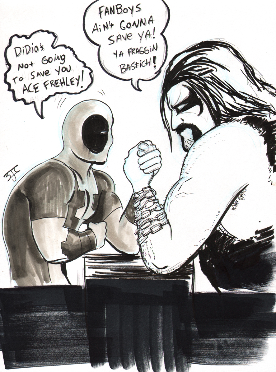 Deadpool and Lobo by Brian J. Crowley