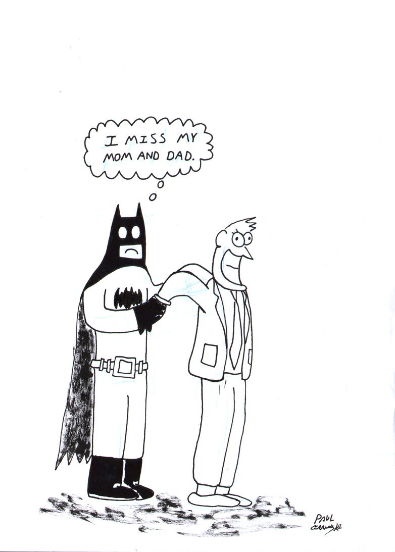 Batman Cartoon by Paul Czarnowski