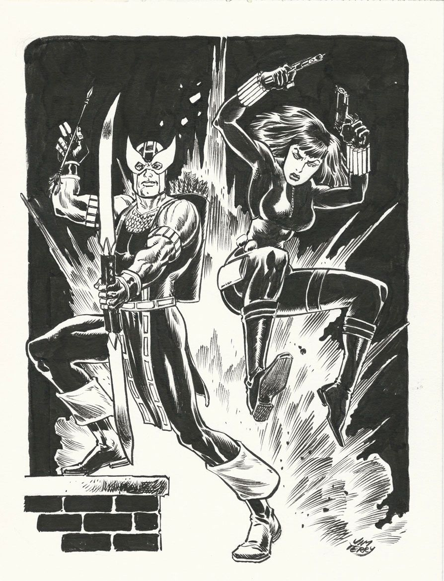 Hawkeye & Black Widow by Jim Terry