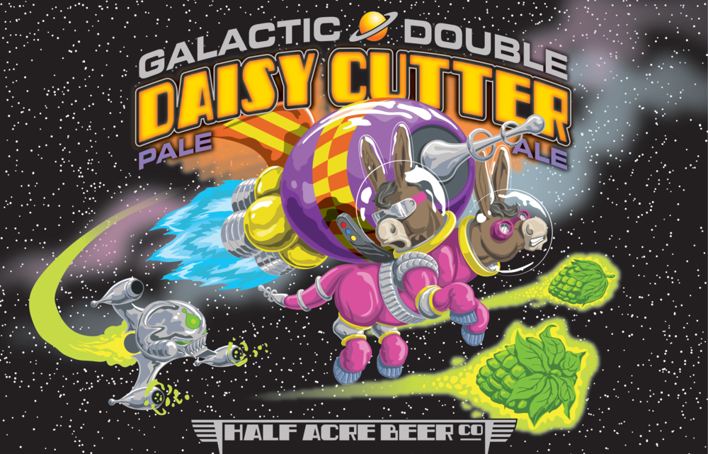 Galactic Double Daisy Cutter 2014 Bomber Label