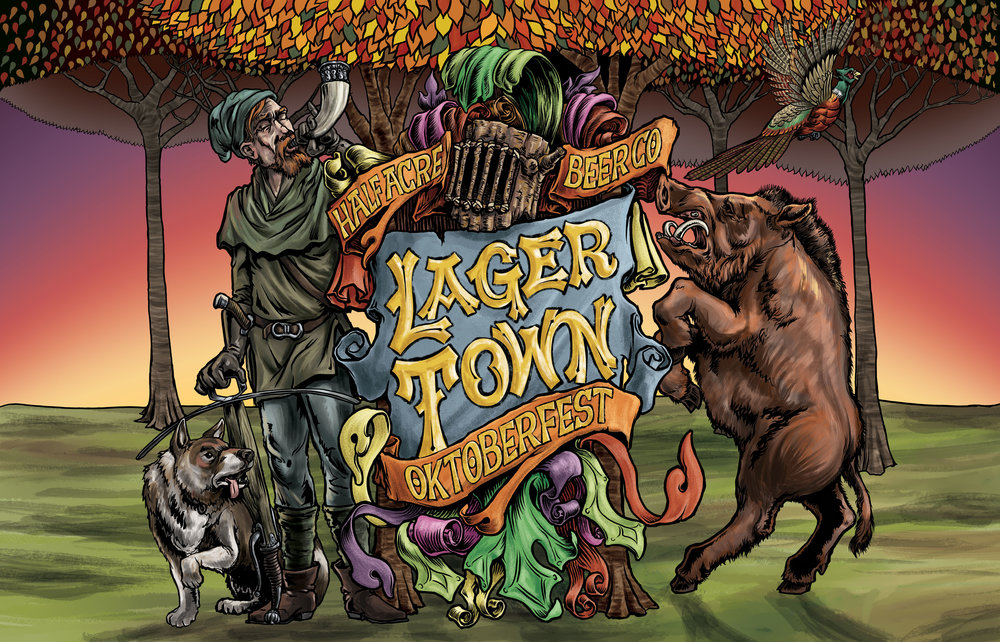 Lager Town 2015 Bomber Label