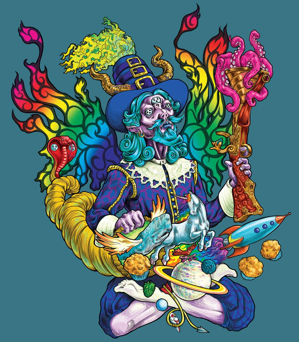 Psychedelic Pilgrim Illustration