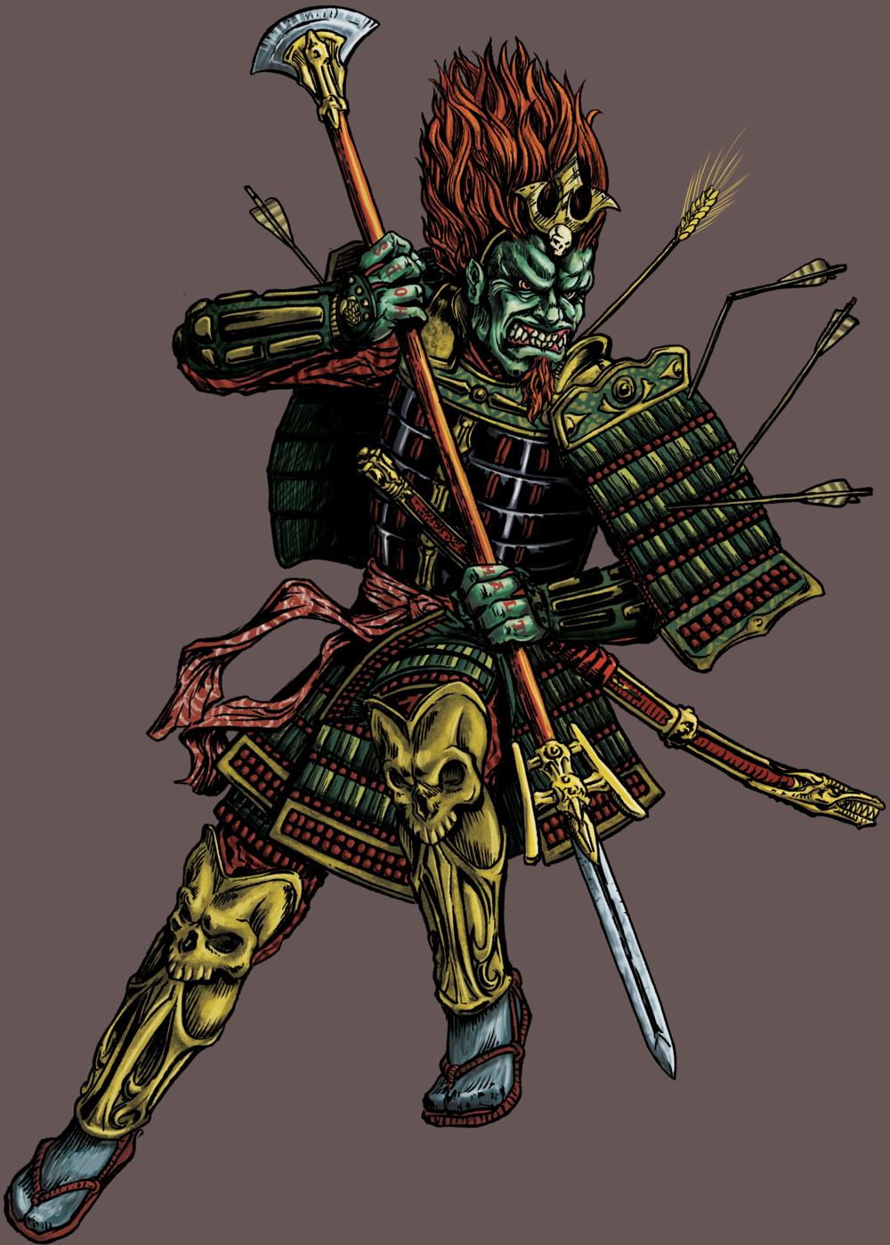 Alpha King Character Illustration