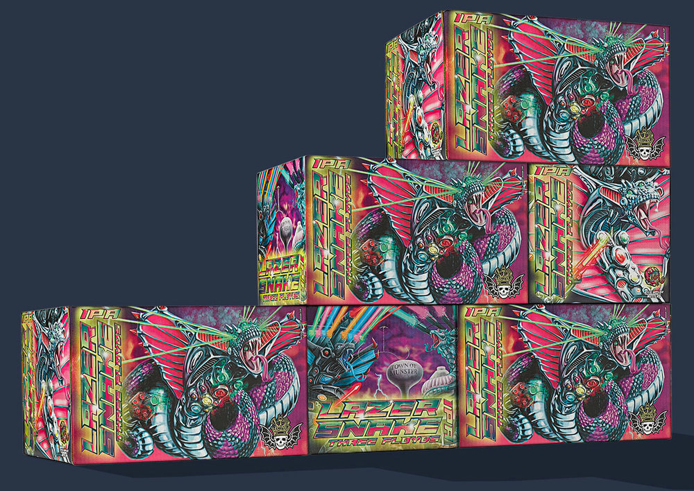 Lazer Snake Cartons