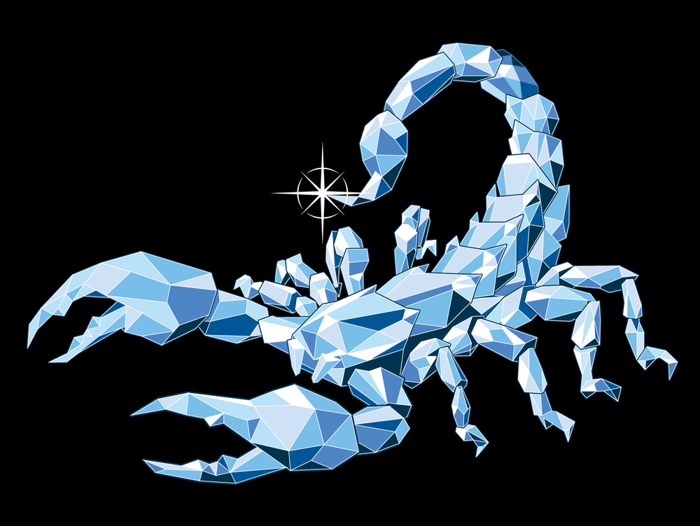 Diamond Scorpion Design