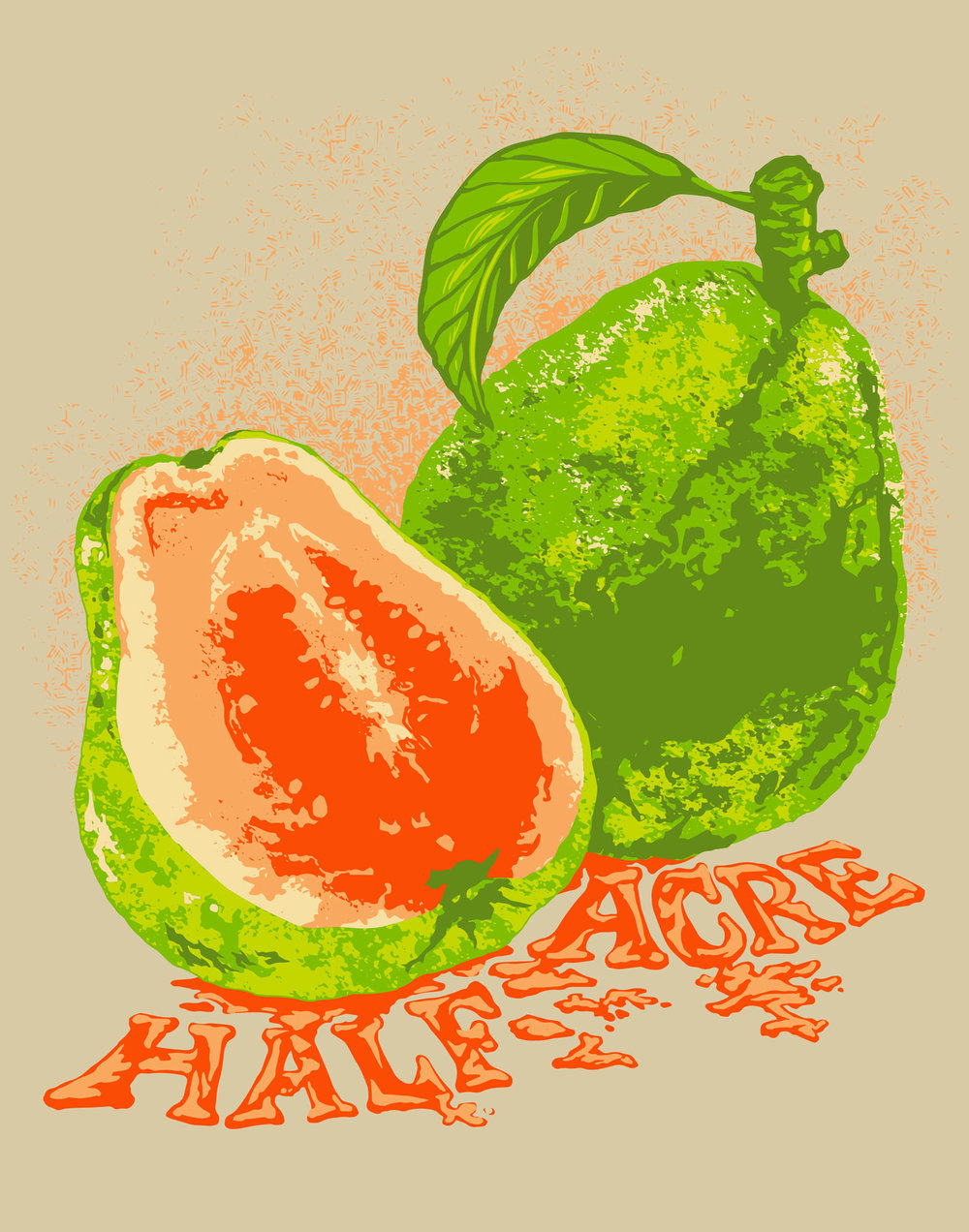 Pure Guava Screen Print