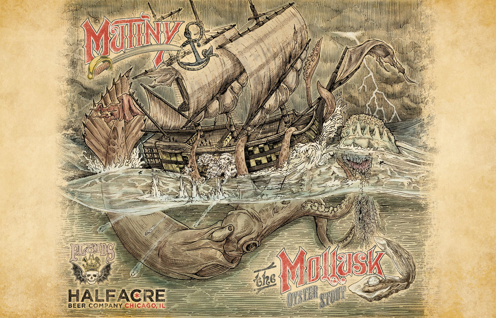 Mutiny & The Mollusk Bomber Label