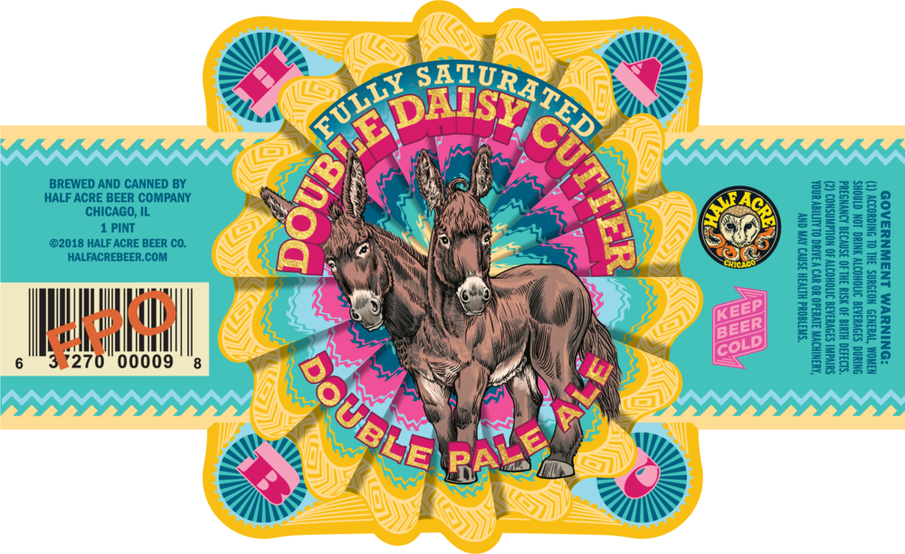 Fully Saturated Double Daisy Cutter 2018 Can Label