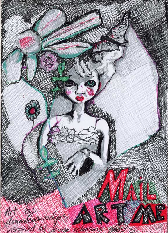 copyright donna louise rodgers 2012 do not reproduce (or pinterest pin) without providing a link to this site  Mail art concept inspired by the Ghost and Art website.