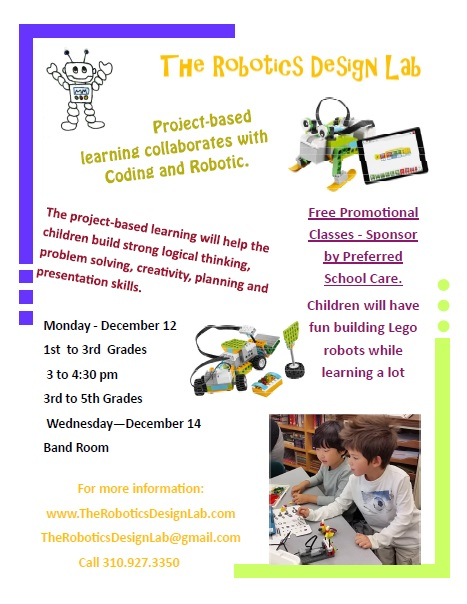 New Enrichment Program - The Robotics Design Lab — Bolton