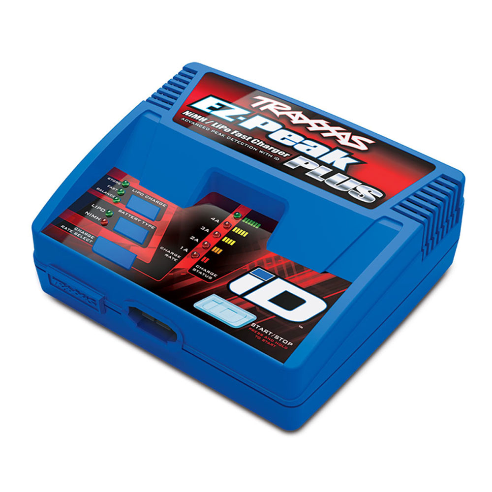 Traxxas EZ-Peak Charger - Position Last Year: 4th It's tempting to place success of the Traxxas EZ-Peak Plus solely on the shoulders of Traxxas' innovative iD battery technology, but it's not that simple for us as we don't carry Traxxas' LiPo batteries. So the popularity of this charger comes down to it's great price point and ease of use, even for non-iD batteries. None are as good as Traxxas at making something highly technical easy to use, and therefore it's no surprise to see the EZ-Peak Plus hold firm in 4th place.