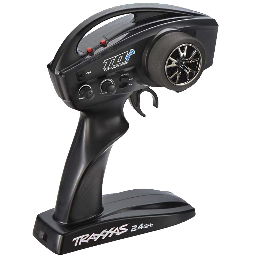 Traxxas TQ 2.4Ghz Radio System - The TQ's modern design features an internal antenna for a sleek look, and an ergonomic grip for all-day driving comfort. 2.4GHz technology means there's no need to worry about frequency conflicts, no matter how many other drivers you're racing with. Just switch on and drive -- the TQ automatically locates and locks onto an open frequency.