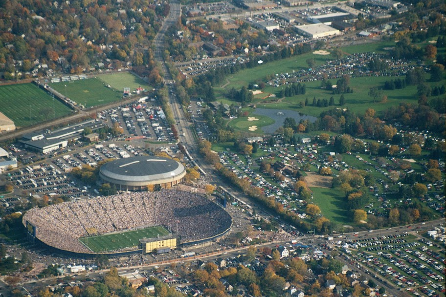 Arial shot of the sports complex and the original home of UMTailgate.com.    October 13, 2000.