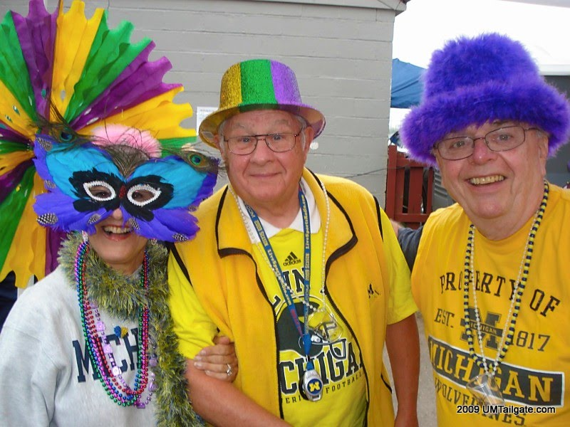 September 26, 2009:  Our New York newcomers celebrate the Mardi Gras theme before Michigan edges Indiana 36-33.