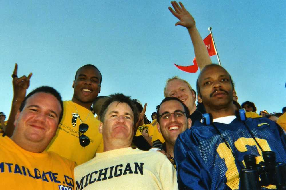 October 7, 2006:  Michigan 31 - Michigan State 13  Our friend Larry that passed away last January is in the front in the light yellow Michigan shirt.  We'll miss you buddy.