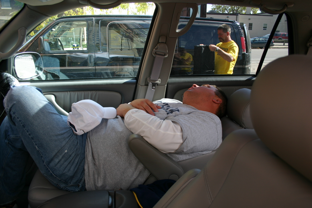 September 30, 2006 Baby Gorilla sleeps at the tailgate before Michigan's 28-14 victory over Minnesota in the Metrodome.