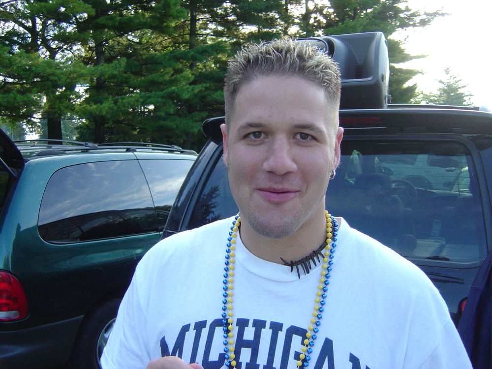September 25, 2004:  Frosted tips before Michigan knocked off Iowa 30-17.