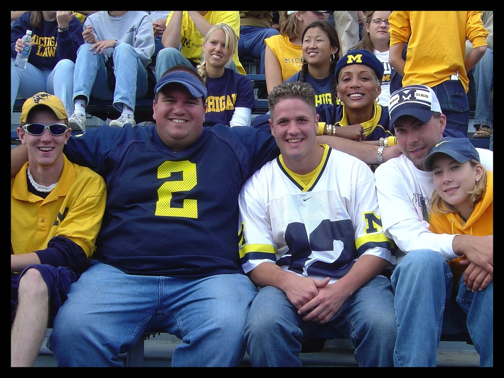 September 27, 2003:  The crew in the stands as Michigan defeated the Hoosiers 31-17.