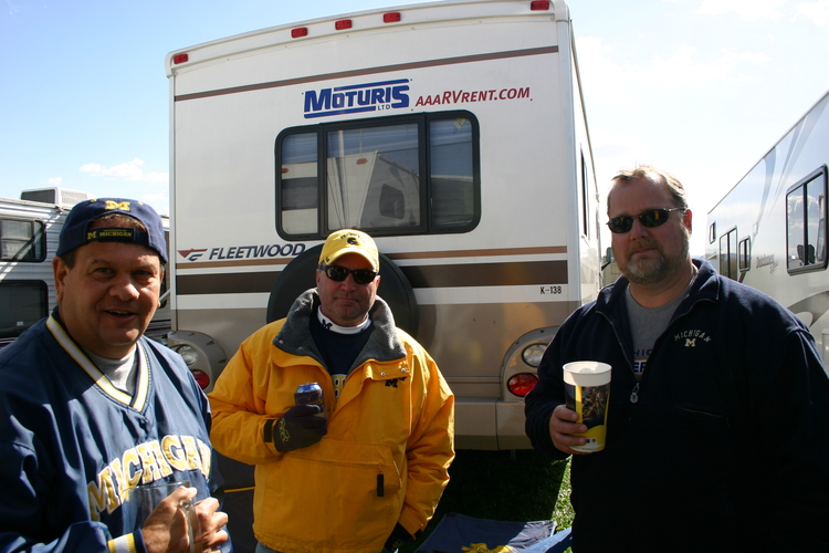 October 14, 2006:  The three amigos discuss the undefeated Wolverines before a sloppy 17-10 victory over the Nittany Lions.