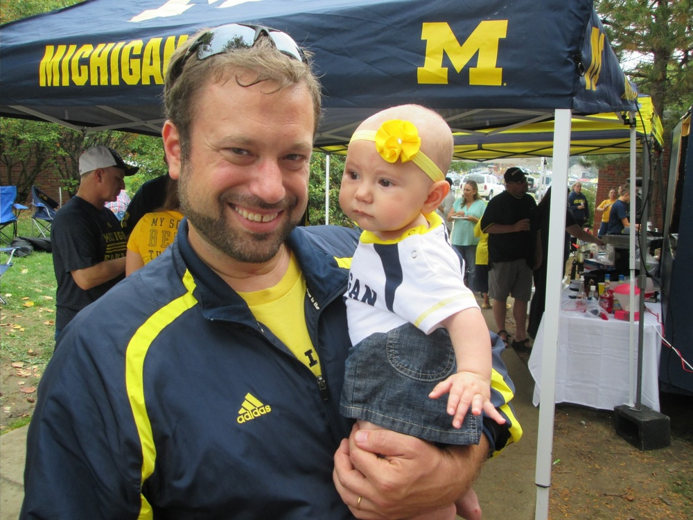 10/5/13 Michigan 42 - Minnesota 13  : A new arrival. Thank god she looks like her mother.