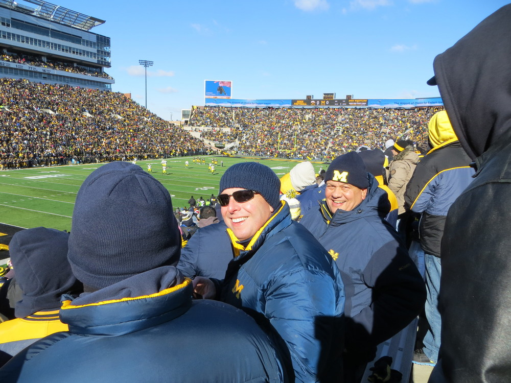 11/23/13 Michigan 21 - Iowa 24  :  Just trying to stay warm in Kinnick Stadium