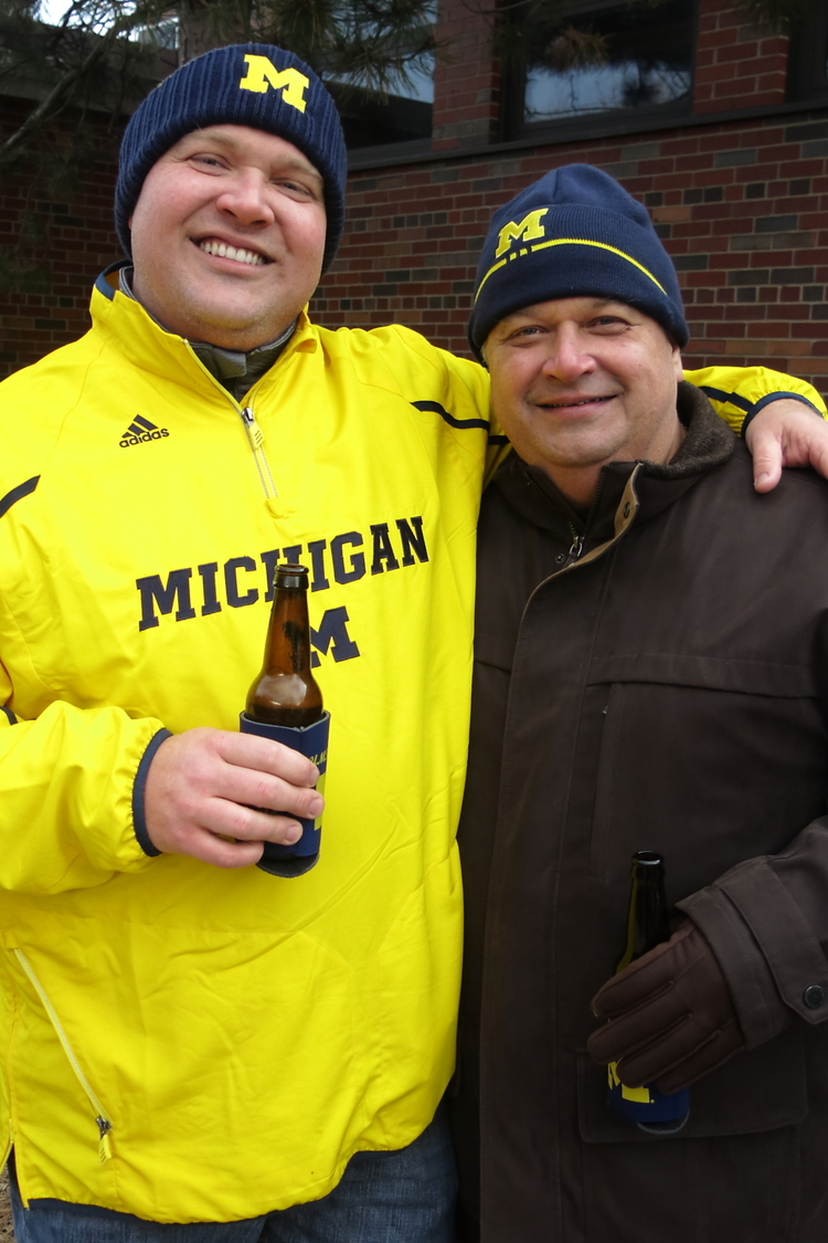 11/30/13  Michigan 41 - Ohio State 42 :  Team Demski poses before the heartbreaker in the Big House.