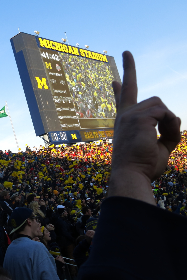 11/30/13  Michigan 41 - Ohio State 42 :  Good call.