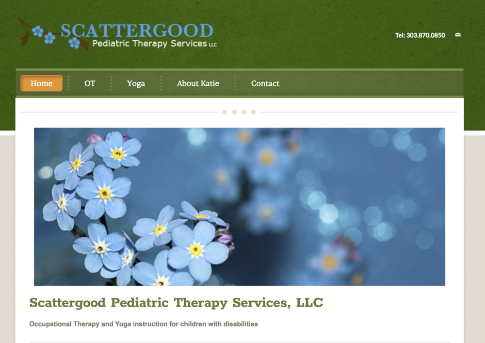 Logo and Website Design: Scattergood Pediatric Therapy Services, LLC -  scattergoodpts.com